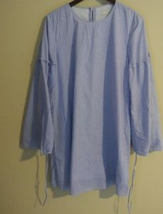 Tibi Blue and White Stripped Dress Size 4